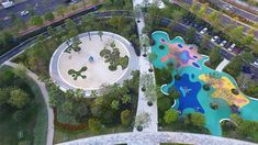 Image 3 of 14 from gallery of Shenzhen Talent Park / AUBE. Photograph by Jie Zhu, Mucong Li Landscape Elements, Landscape Architecture, Landscape Design, Shenzhen, Orchid Tree, Park Playground, Urban Park, Play Yard, Water Resources