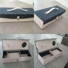 Marcelle  ( Chounette) de St Aunes a terminé cette création! Une boîte à tricots!  Cette boitee a un aimant pour les ciseaux  et un magnifique pique aiguilles.Cette boîte est recouverte d un tissu japonisant acheté au salon aiguilles en fête à Paris et un lin de chez Omar idéal tissu Lunel.  Marcelle très jolie boîte!  Bravo !  Fatima 3d Paper Projects, How To Make Box, Book Binding, Packaging Design, Boxes, Wraps, Storage, Gifts, Furniture