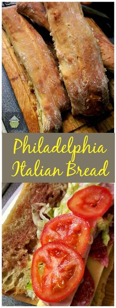Philadelphia Italian Bread - Easy recipe made by hand and great for Cheese Steak Sandwiches, cutting into slices and using in dips..fantastic party food too! #bread #Philadelphia #Italian