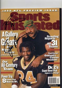 SIGNED Jim Brown/Ricky Williams Sports Illustrated magazine