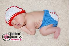 Crochet Baby Baseball Hat and Diaper Cover by SimplySoftBabyLoft, $35.00