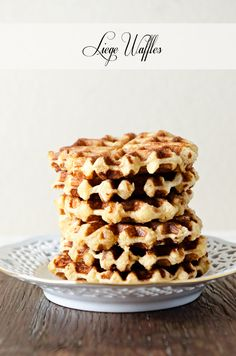 Liege Waffles | Sugar and Grace