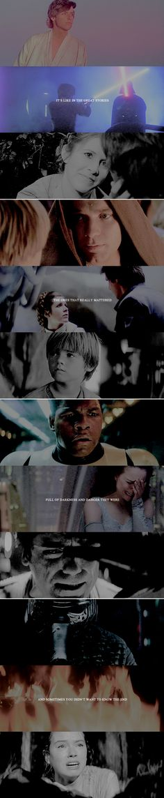 It's like in the great stories the ones that really mattered full of darkness and danger they were and sometimes you didn't want to know the end #starwars