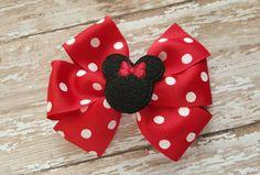 Ribbon Hair Bows, Diy Hair Bows, Diy Ribbon, Baby Girl Hair Accessories, Diy Hair Accessories, Red Minnie Mouse, Kids Headbands, Handmade Hair Bows, Toddler Bows