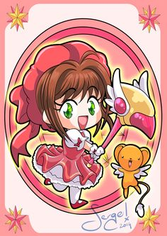 20140729 - Sakura Kinomoto and Kero-chan by nekoiichi.deviantart.com on @DeviantArt