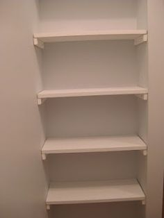 DIY closet shelves idea- brilliant for a small nook! | FollowPics