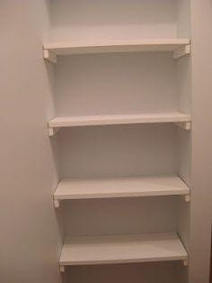 DIY closet shelves idea- brilliant for a small nook! | FollowPics