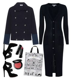 """SONIA BY SONIA RYKIEL Knit Peacoat Navy // Wool blend jacket"" by thestyleartisan ❤ liked on Polyvore featuring Autumn Cashmere, Sonia by Sonia Rykiel, Harrods, Bobbi Brown Cosmetics, women's clothing, women, female, woman, misses and juniors"