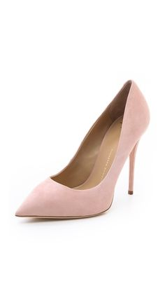 Giuseppe Zanotti Yvette Pumps Nude pumps, great color-blocking an already vibrant out fit.