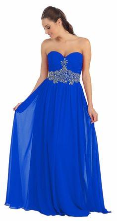 Strapless Royal Blue Prom Dress #discountdressshop #strapless #promdress #royalblue #weddings #formaloccasion Chiffon Dress, Strapless Dress Formal, Formal Dresses, Royal Blue Prom Dresses, Weddings, Fashion, Chiffon Gown, Dresses For Formal, Blue Ball Dresses