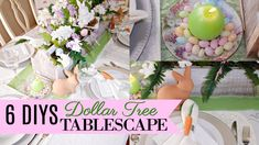 🍃🐇Hello my beautiful romantic home friends! In today's video I am so excited to share with you 6 DIY Dollar Tree Easter. Dollar Tree Centerpieces, Dollar Tree Decor, Dollar Tree Crafts, Diy Christmas Mantel Garland, Farmhouse Christmas Decor, Farmhouse Decor, Bridal Decorations, Diy Easter Decorations, Deco Mesh Garland