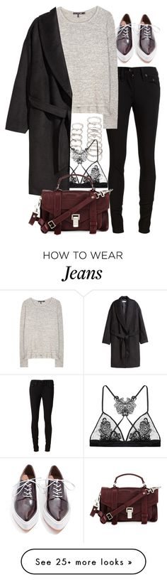 """""""Untitled #7896"""" by nikka-phillips on Polyvore featuring Forever 21, Fleur of England, Jeffrey Campbell, rag & bone/JEAN, rag & bone, H&M and Proenza Schouler"""