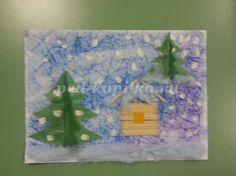 Мастер-класс по аппликации с элементами рисования по теме Зима