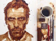 Kaffeekunst: Maria Arisidous Zeichnungen mit Kaffee