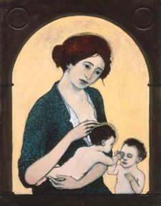 Madonna & Child with the Infant John the Baptist - Brian Kershisnik
