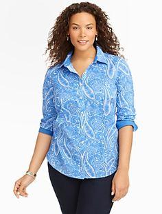 Talbots - Wrinkle-Resistant Paisley-Print Shirt | Blouses and Shirts | Woman Petites