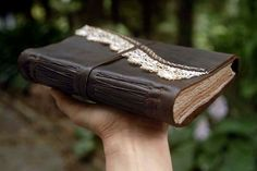 Thoughtlands  Dark Brown Leather Journal by bibliographica on Etsy