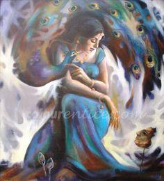 """Melancholy"" a great Artwork by Artist Subhankar Haldar  http://www.colourentice.com/products/melancholy-1  Medium: Acrylic on Canvas & Size: 28"" X 32"" #Art #Paintings #IndianArt #Artwork"