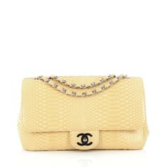 efec012dde0b Chanel Classic Single Flap Bag Python Medium  Chanel  ShoulderBag