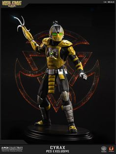 Here is the 1:4 Klassic #Cyrax statue by Pop Culture Shock Collectibles. Pre-Order starts Monday June 13th at 3 Pm PST at http://www.popcultureshocktoys.com #MortalKombat #LinKuei