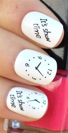 NiceDeco  nail stickers nail tattoo nail deacl water transfers decals theatre its show time clockswatch * Click image for more details. Note:It is Affiliate Link to Amazon.