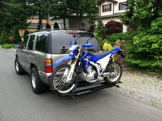 From Mike Clacy - First road trip with new MotoTote. It was easy and solid. I love this thing! Motorcycle Carrier, All Over The World, Road Trip, Gallery, Vehicles, Easy, Roof Rack, Road Trips, Car