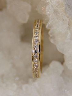 Memoryring/Alianza anillo hecho de oro 585 con por fabrior en Etsy
