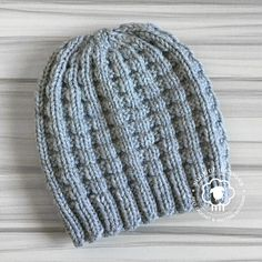 The Kaza Hat features a waffle stitch pattern; a super easy, repeat that c… – Knitting patterns, knitting designs, knitting for beginners. Beanie Knitting Patterns Free, Knit Beanie Pattern, Knitting Blogs, Loom Knitting, Knit Patterns, Free Knitting, Knitting Projects, Crochet For Beginners Headband, Knit Or Crochet