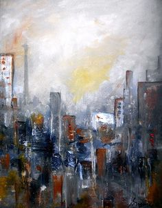 Cityscape Abstract Painting. modern home design ideas great