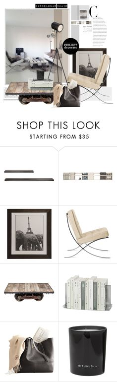 """""""barcelona @chair"""" by marybloom ❤ liked on Polyvore featuring interior, interiors, interior design, home, home decor, interior decorating, Eurø Style, Foxy Potato, Rituals and dwr"""