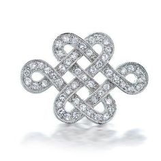 Bling Jewelry Eternal Love Knot CZ Wedding Brooch Pin