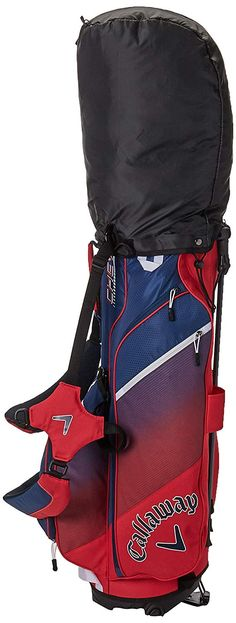 You will be the most stylish golfer on the course with this great golf stand bag from Callaway. Featuring a wide variety of eclectic colors, the Chev Stand Bag is as attractive as it is effective. Combined with comfortable straps, a full-length apparel pocket, and an easy grab handle at the top, this stand bag features everything you need to play your best golf. Golf Stand Bags, Cleveland Golf, Hip Pads, Hybrid Design, Callaway Golf, Golf Accessories, Best Bags, Taylormade, Golf Carts