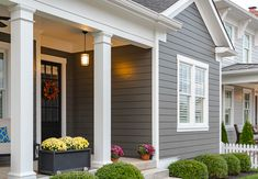 Getting ready to paint your home's exterior? Find our favorite exterior color schemes and tips for picking house paint colors. This appealing array of homes combine paint colors in charmingly impactful ways. Exterior Color Combinations, Exterior Color Palette, Exterior Colors, Exterior Design, Siding Colors For Houses, Exterior Paint Colors For House, Paint Colors For Home, House Siding Options, Exterior Siding Options
