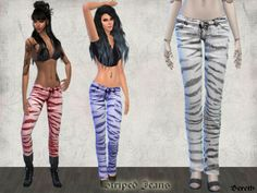 Bereth's Striped Jeans
