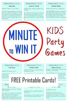 Minute to Win It Games for kids and families! Awesome family fun with these simple 60 second challenges. games indoor minute to win it Gym Games For Kids, Creative Activities For Kids, Kids Party Games, Learning Activities, Minute To Win It Games For Kids, Family Games Indoor, Indoor Games, New Years Eve Games, Sleepover Games