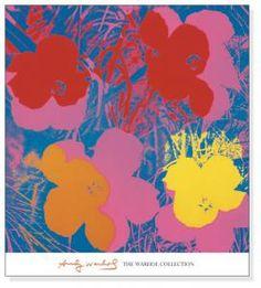 フラワーズ 1970(red-yellow-orange-blue)(アンディ ウォーホル)