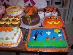 fall themed cake walk cakes