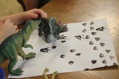 Matching Dinosaur Tracks...First let them match the tracks....then let them create art ....with added dinosaur sihlouettes