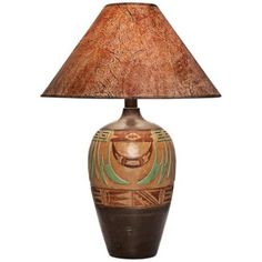 Wild Marigold Handcrafted Light Southwest Table Lamp -