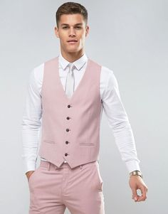 River Island Skinny Suit In Pink