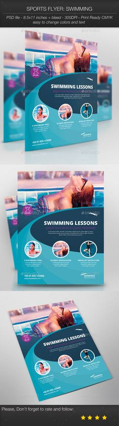 pool service flyers. Sports Flyer: Swimming By Thefaint Specifications:  8.5x11 Pool Service Flyers