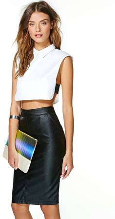 Nasty Gal Spaces Crop Top