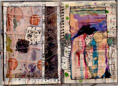 pages from Found Sound, a music artist's book created by Nancy Bell Scott for Cheryl Penn's New Alexandrian Library in South Africa a #mixed_media #collage