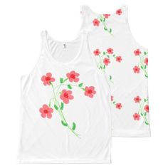 Summer Sportswear All-Over Print Tank Top