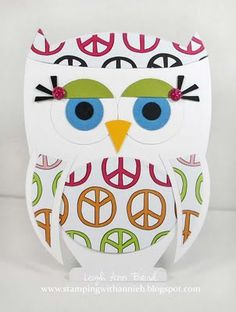 Free Printable Owl Template! Cute for lunch box notes etc.