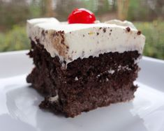 Chocolate Tres Leches Cake by Plain Chicken Cupcakes, Cake Cookies, Cupcake Cakes, Poke Cakes, Chocolate Tres Leches Cake, Chocolate Desserts, Chocolate Lovers, Chocolate Cake, Just Desserts