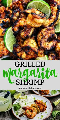Grilled Margarita Shrimp Kebabs from afarmgirlsdabbles. - Grilled Margarita Shrimp Kebabs are loaded with flavor and charred to perfection. recipes chicken recipes crockpot recipes easy recipes for dinner recipes healthy food recipes Kebab Recipes, Seafood Recipes, Mexican Food Recipes, Dinner Recipes, Cooking Recipes, Healthy Recipes, Mexican Dishes, Grilled Dinner Ideas, Cooking Tips