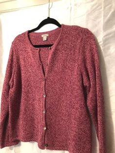 LL Bean Womens size Large petite Cardigan Sweater 100%cotton  fashion   clothing  shoes  accessories  womensclothing  sweaters (ebay link) 5b535af9d
