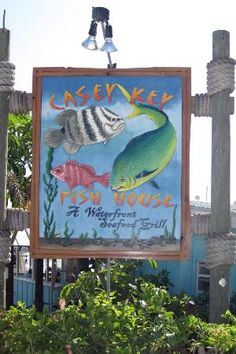 Casey Key Fish House is right by the water.  You can kayak there and sit and have a drink at the tiki bar or enjoy a full meal.