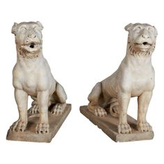 18th Century Italian Marble Lions | From a unique collection of antique and modern sculptures at http://www.1stdibs.com/furniture/more-furniture-collectibles/sculptures/
